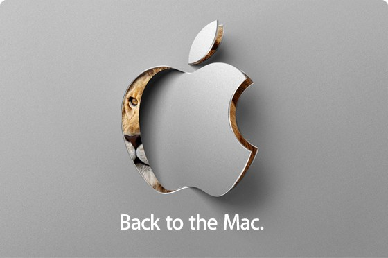 Apple's Back to the Mac October 20th Apple Event logo