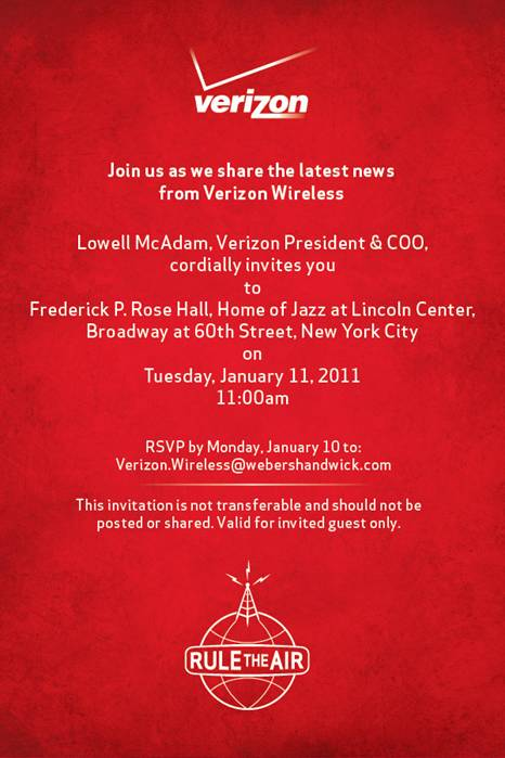 Verizon invitation. Credit: Ars Technica