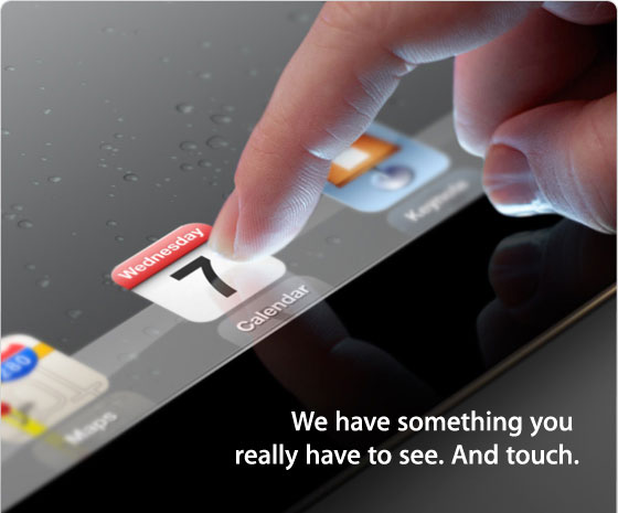 iPad 3 media announcement